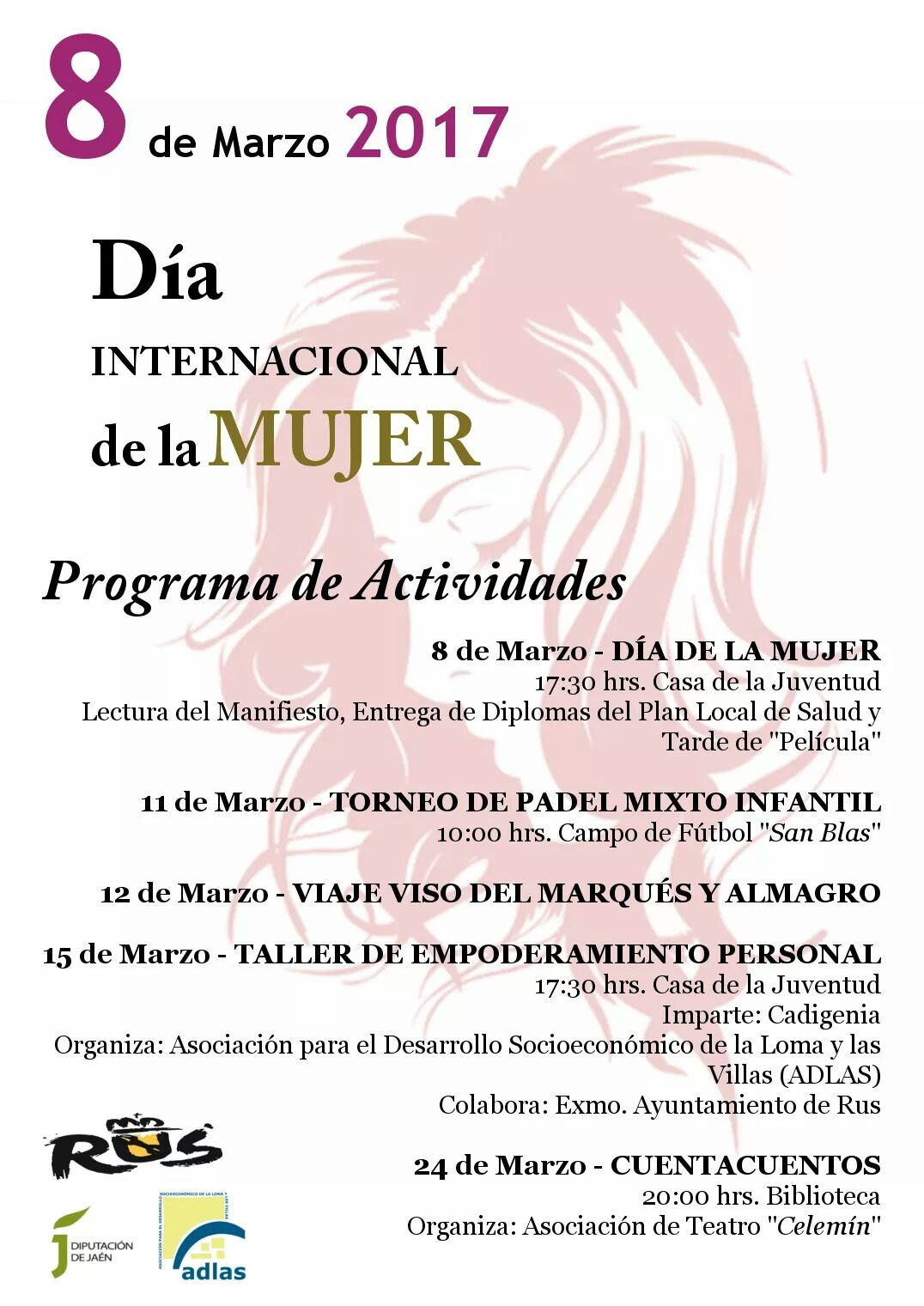 Día Internacional de la Mujer – 8 Marzo 2017