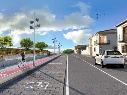 Reordenación, diseño urbano y promoción de la movilidad peatonal en el eje de las calles Eras del Moral – Mariana Pineda